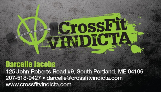 CrossFit Vindicta Business Card Design