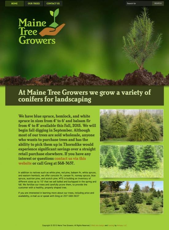 Maine Tree Growers website