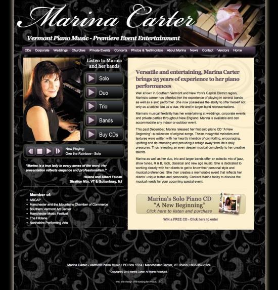 Marina Carter - Vermont Piano Music website