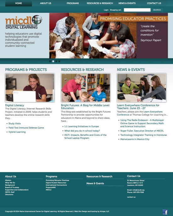 Maine International Center for Digital Learning website
