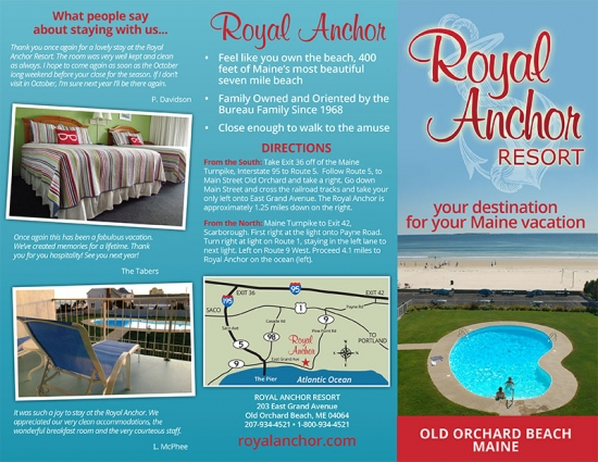 Royal Anchor Resort Brochure outside