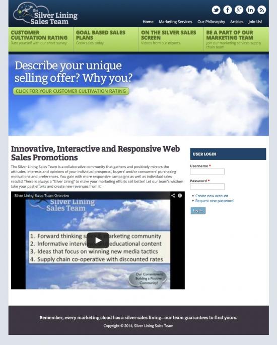 Silver Lining Sales Team website