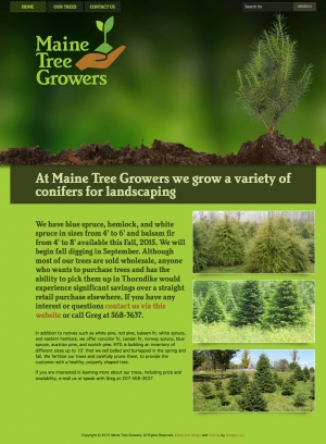 Maine Tree Growers website